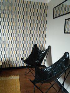 Chambre motif Ikat Fontenay le comte ladecodamandine
